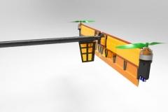 Drone spécifique, vue arrière
